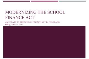 Download the Modernizing the School Finance Act Presentation